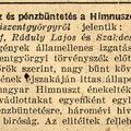Fogház és pénzbüntetés a Himnuszért - 1937 június 20