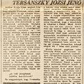 A bárpultnál énekel: Tersánszky Józsi Jenő - 1946. december 25. Haladás