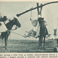 A csikósok pólózni tanulnak - Képes Pesti Hírlap 1937 június 9.