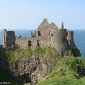 A Dunluce Kastélyban Észak-Írországban