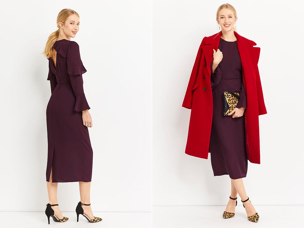 Lábszárig érő szoknya vagy ruha esetén a kabát vagy takarja a ruhát, vagy tíz-húsz centivel legyen rövidebb nála.