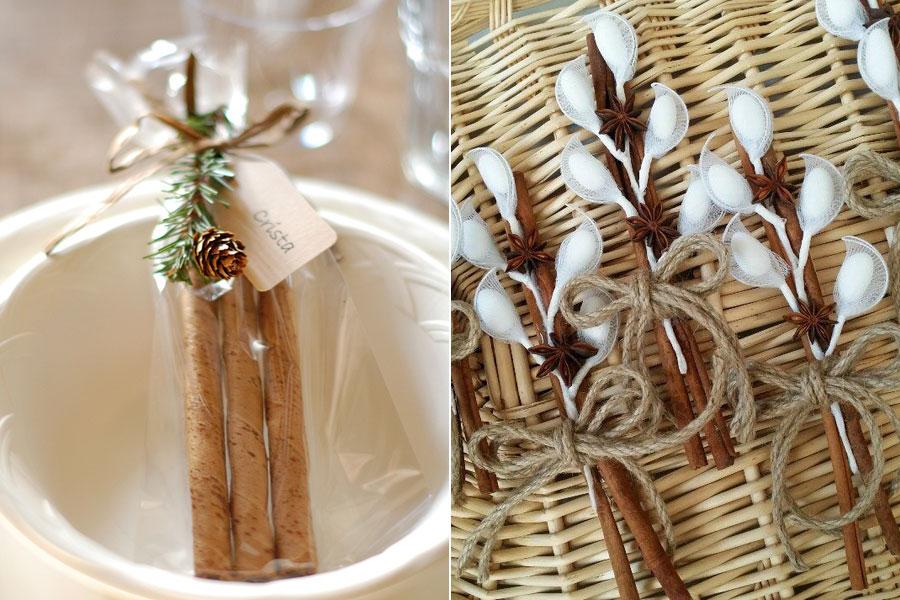 Más illatos fűszerekkel, például csillagánizzsal szépen becsomagolva hangulatos téli ajándék lehet a násznép számára.