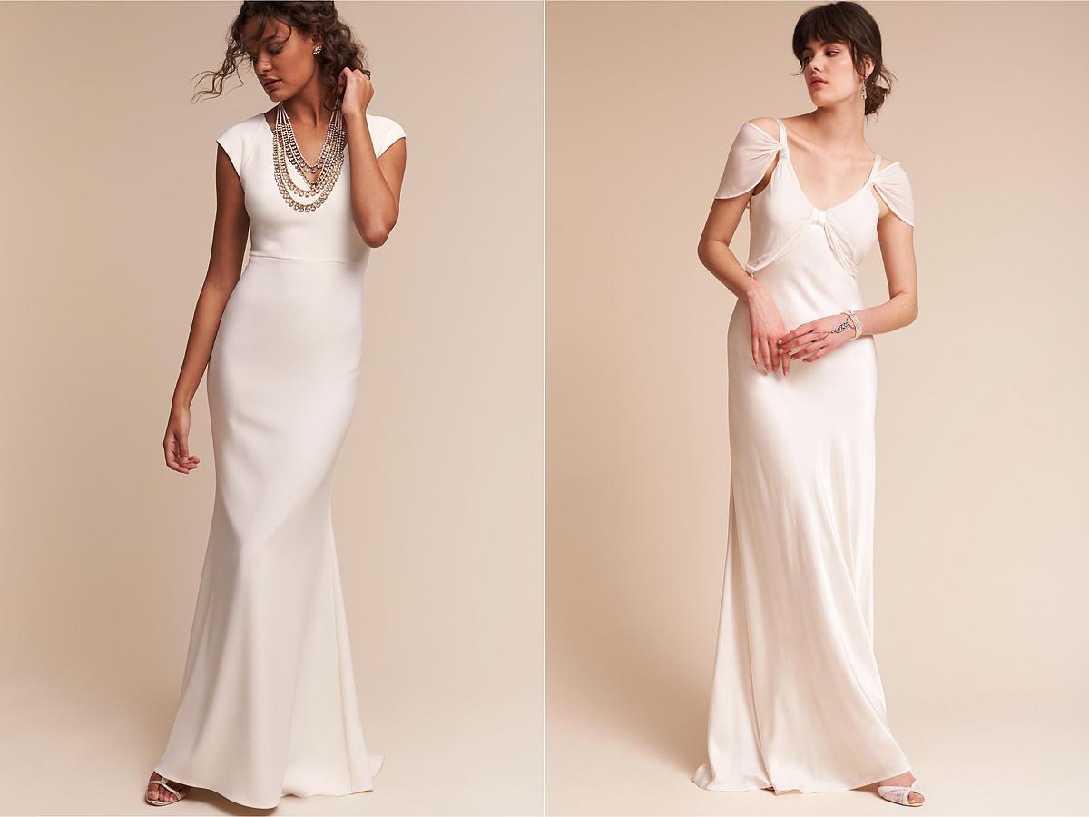 A hálóingszerű selyemruhák a legkényelmesebbek nyári melegben, lágy esésű fazonjukkal szabad mozgást engednek a pörgős menyasszonyoknak. Egy ilyen ruhában élmény táncra perdülni!