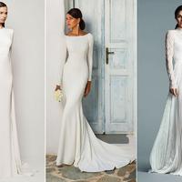 24 csodás, hosszú ujjú esküvői ruha, ha nem érdekel a nagy cicoma