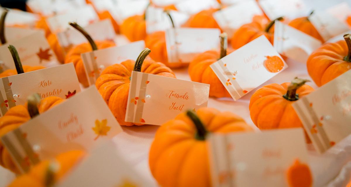 A legszebb esküvői dekorációk tökkel: őszi hangulat a javából