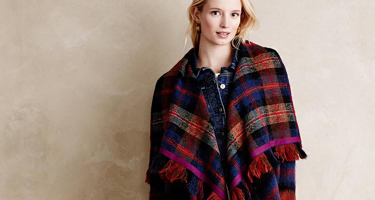 Őszi pelerinkabátka plédből: kis varrótudással is elkészítheted