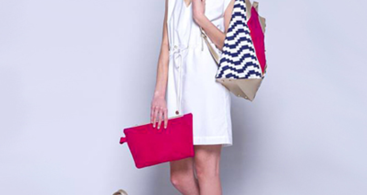 Egy csipetnyi geometrikus minta nyárra  - Pinkkel és fehérrel