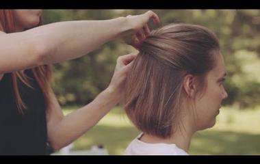 Rövid hajból is készülhet különleges esküvői frizura