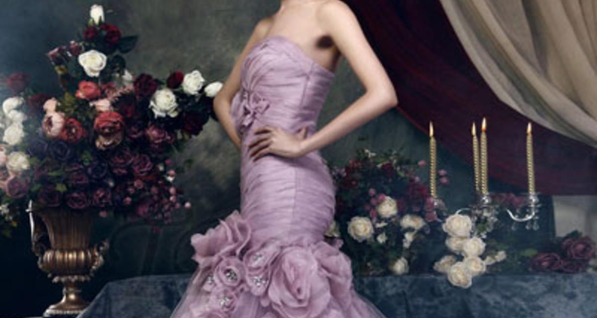 Varázslatos esküvői ruhák lilában - Inspiráló képek