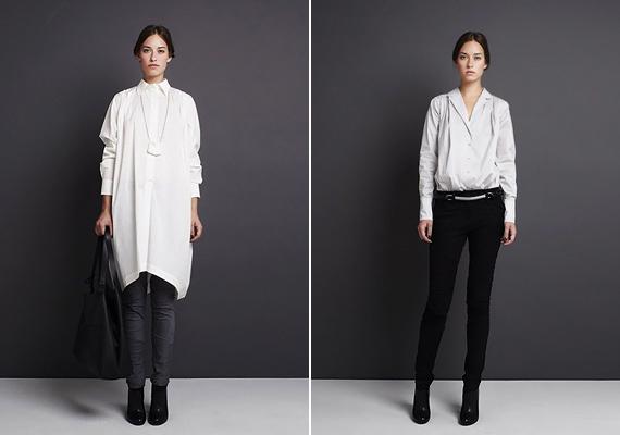 A Nubu-kollekciók elengedhetetlen tartozéka a fehér ing: a ruhaként is viselhető ingtunika rusztikus stílust csempész a modern, városi megjelenésbe.