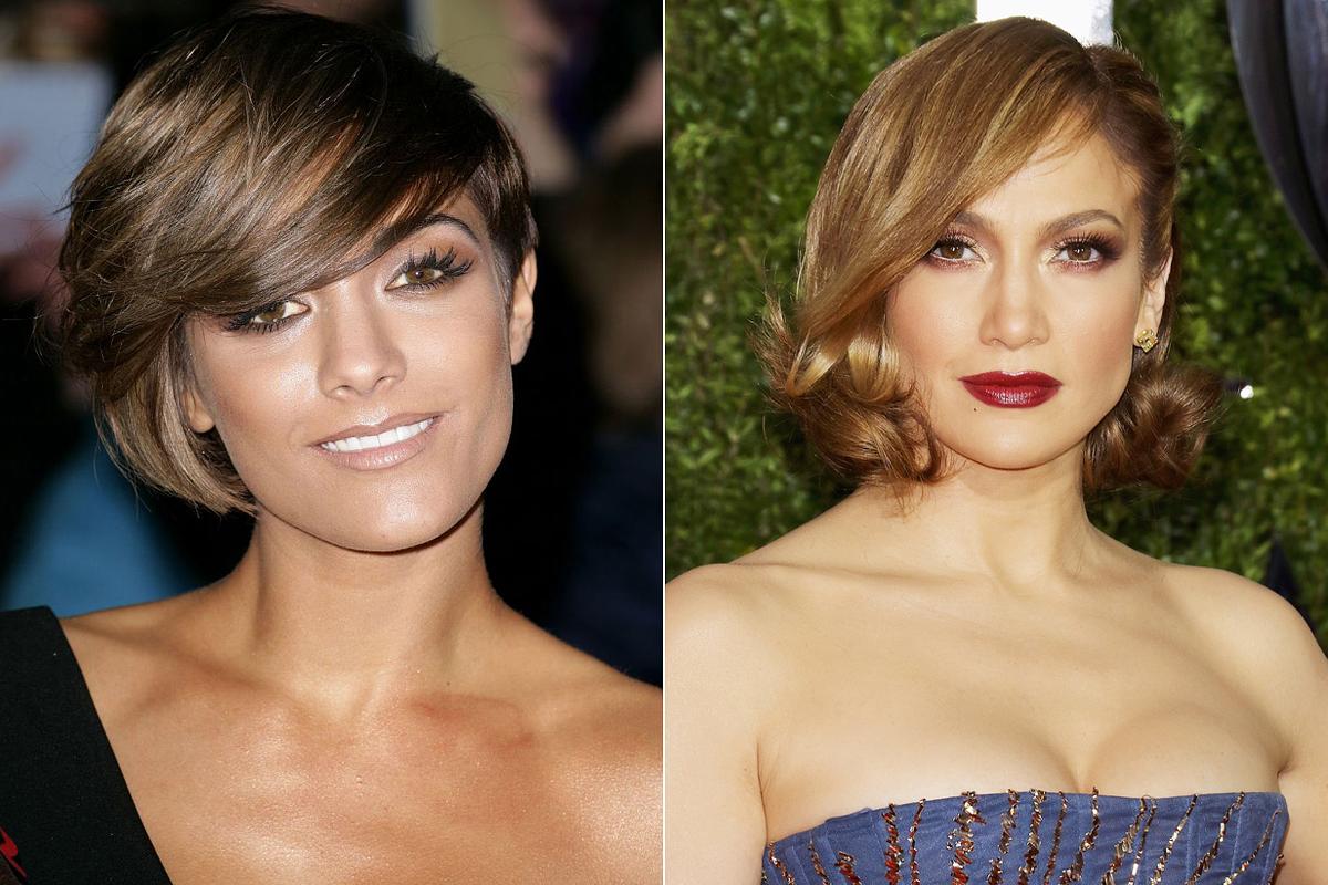 Az éles arcélt aszimmetrikus bob fazonnal és alul loknis frizurával ellensúlyozhatod.