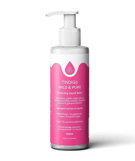 A <a href='https://szepsegreceptek.hu/termek/tindigo-mild-pure-cleansing-liquid-balm/'>Tindigo</a> gélből olajjá változó arclemosója ugyan nem túl nagy kiszerelésben kapható - 100 ml -, de formulája értékes növényi olajokban gazdag. Napraforgó-, argán-, sárgabarack- és jojobaolajat tartalmaz, ugyanakkor illat-, szulfát- és alkoholmentes. Sajnos a sminket nem távolítja el maradéktalanul, de a mindennapi szennyeződésektől alaposan megszabadítja a bőrt. Az ára: 6490 forint.