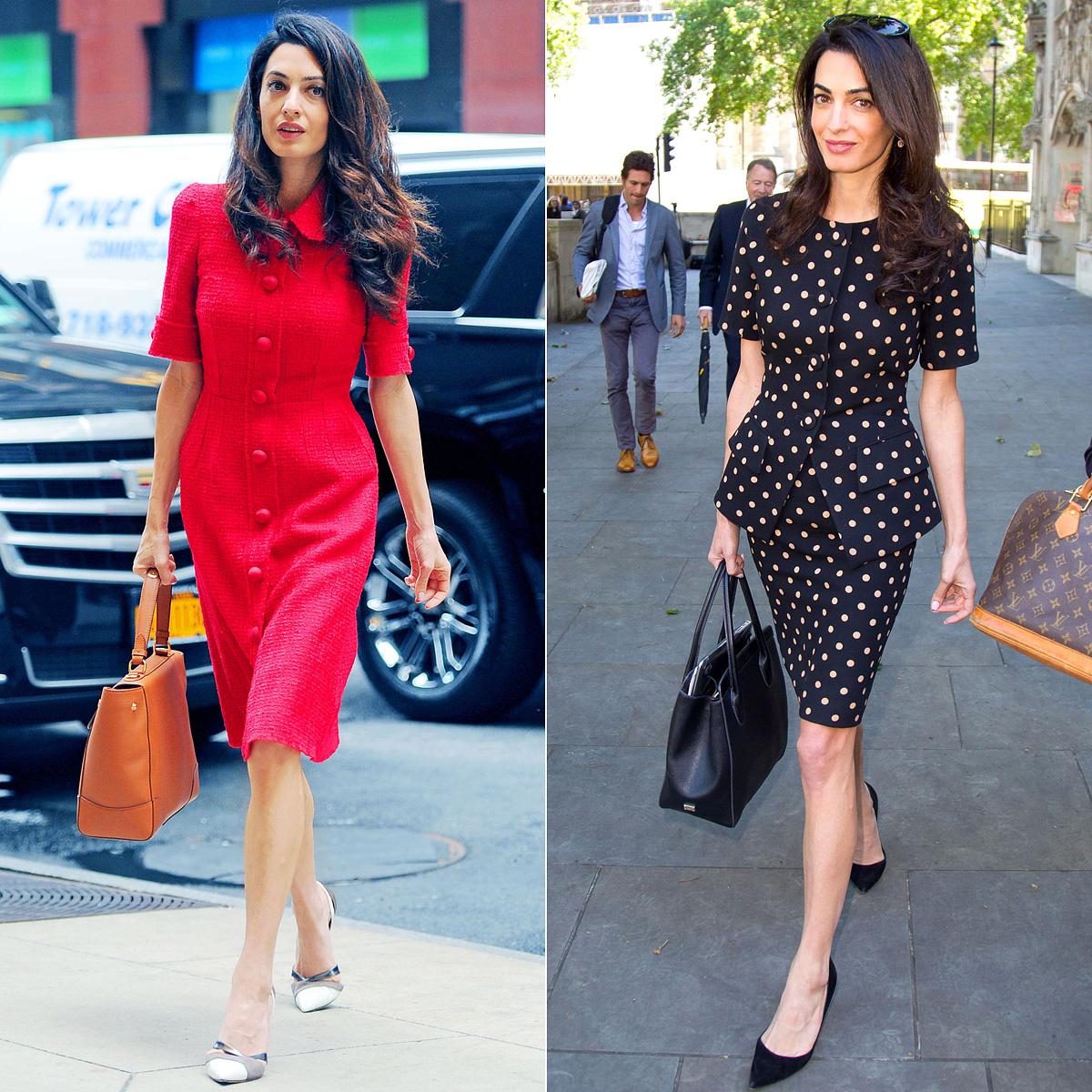 A modern és a retró szabású ruhák is jól állnak neki.