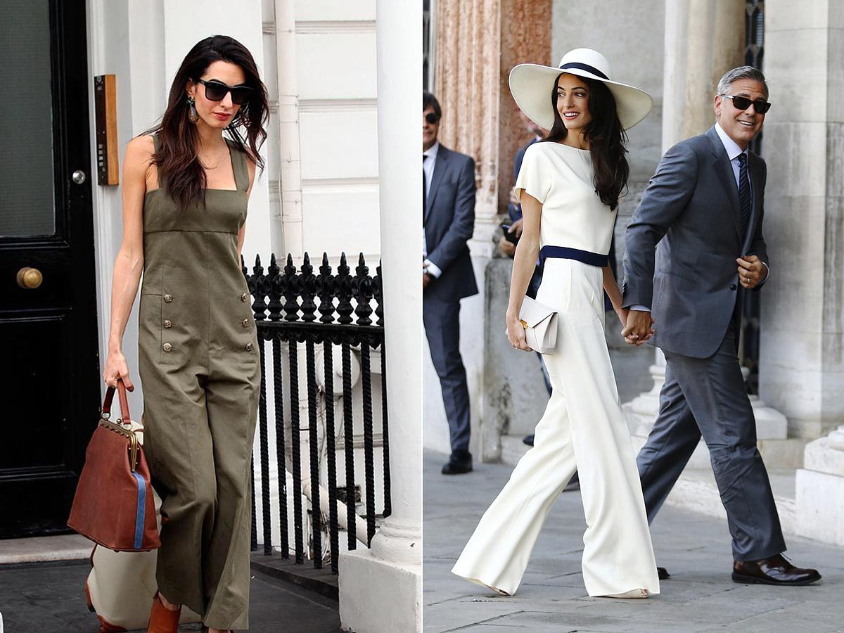 A nadrágos szettekkel sem tud félrelőni George Clooney felesége.