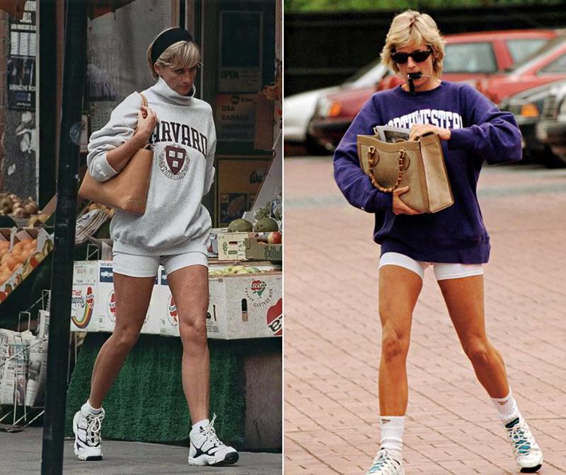 Diana imádott sportolni, és ez meg is látszott a szépen kidolgozott alakján. Nemcsak a kilencvenes években, még ma is sokan kapnak kedvet a biciklis nadrág viseléséhez, ha meglátják a képeken, milyen jól mutatott ez a feszes ruhadarab a hercegnő izmos combjain.