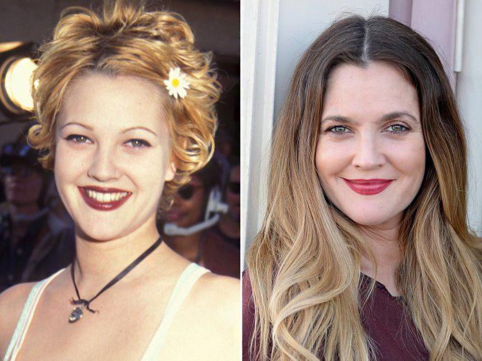Drew Barrymore bájossága megkérdőjelezhetetlen, de ma már valószínűleg ő is csak nevet a kilencvenes években készült fotóin.