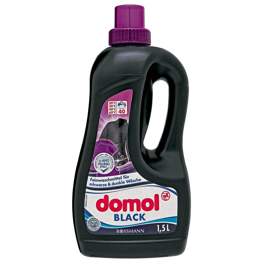 A Rossmann saját márkás, gél állagú mosószere nem tartalmaz fekete pigmenteket, avagy nem színezi be a ruhákat. A színfakulást úgy előzi meg, hogy megakadályozza az anyagok mosás közben történő bolyhosodását.