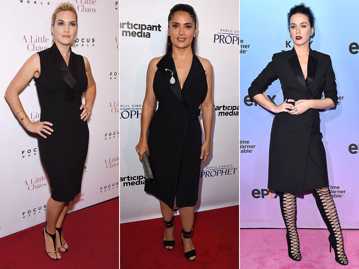 Kate Winslet, Salma Hayek és Katy Perry is szereti az egyszerű vonalvezetésű, szmokingfazonú kis fekete ruhát.