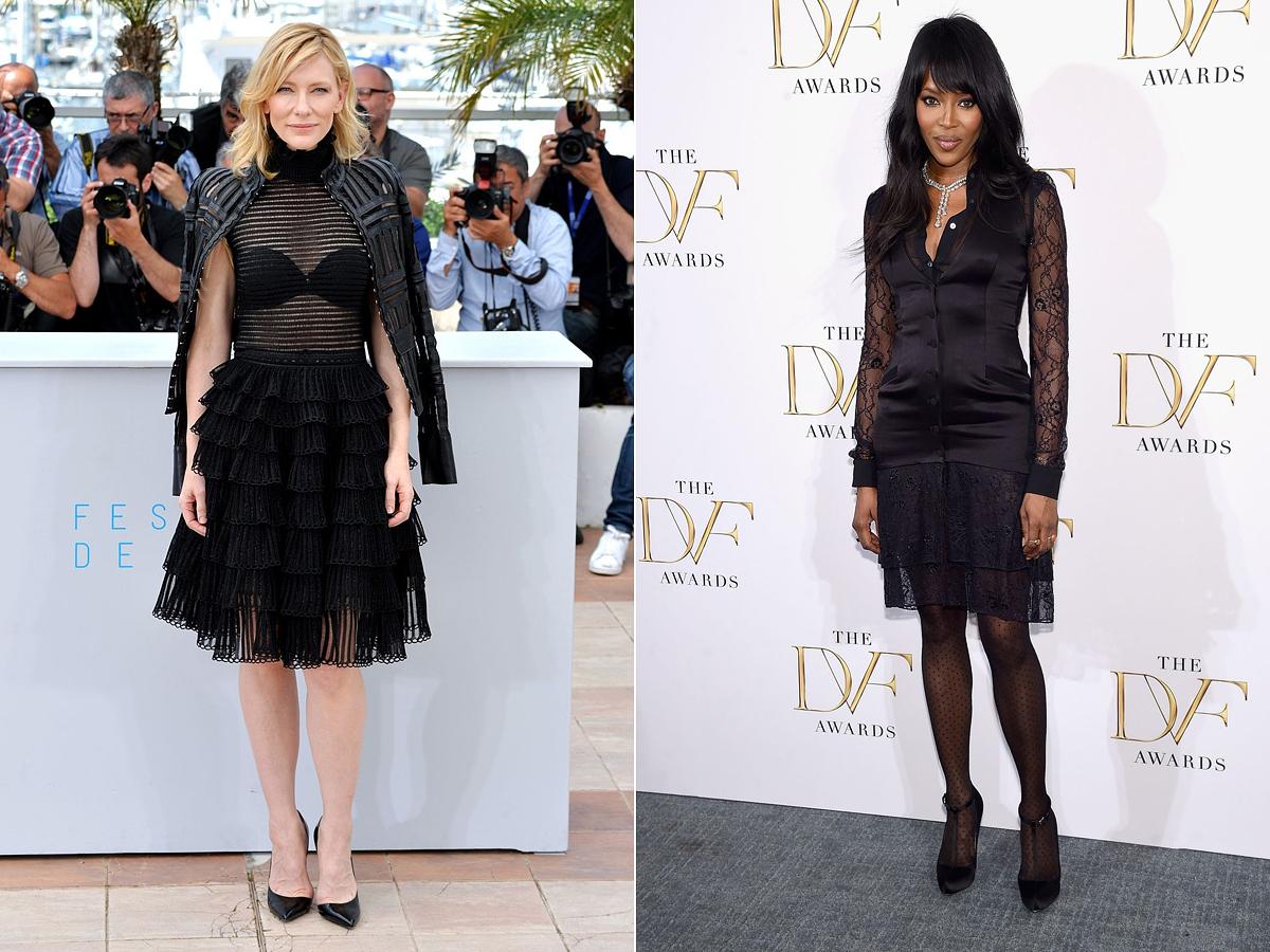 Bátran játszadozz az áttetsző anyagokkal, mint Cate Blanchett és Naomi Campbell.