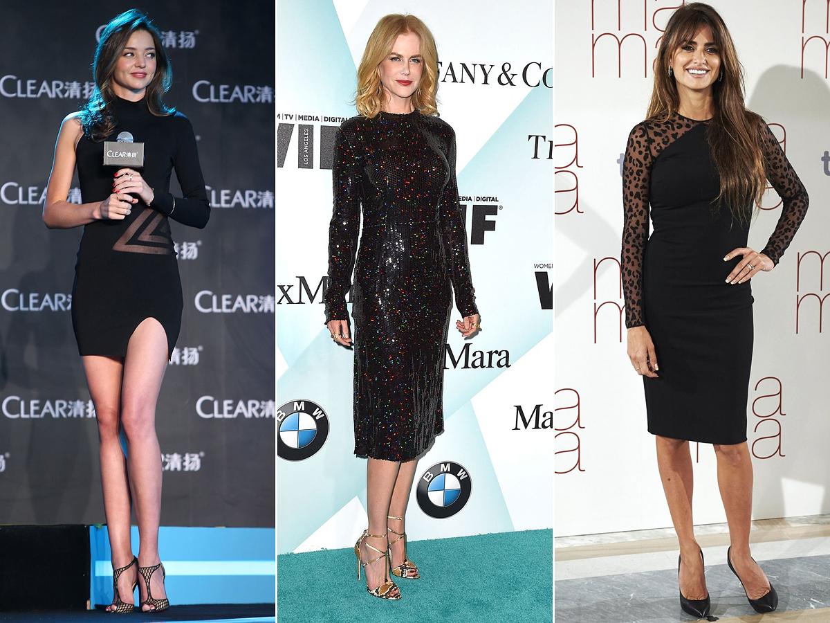 Miranda Kerr, Nicole Kidman és Penélope Cruz szintén a tubaszabású ruhára szavazott. A modell a lábaira helyezte a hangsúlyt, a két színésznő öltözéke sokkal visszafogottabb.