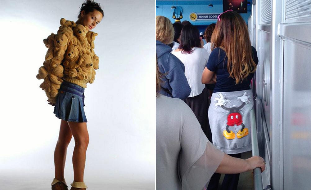 Valószínűleg sokan ismerik a kétoldalas, Mickey-egeres pulóvert, egy időben nagy sláger volt. A dizájn megálmodója biztosan nem gondolt arra, hogy hová kerül szegény egérke, ha valaki a derekára köti a felsőjét.