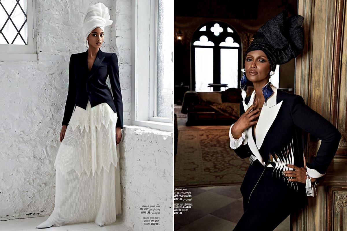 A divatmelléklet stílusát Michael Philouze stylist alakította ki, az egzotikus szépségekhez illően.