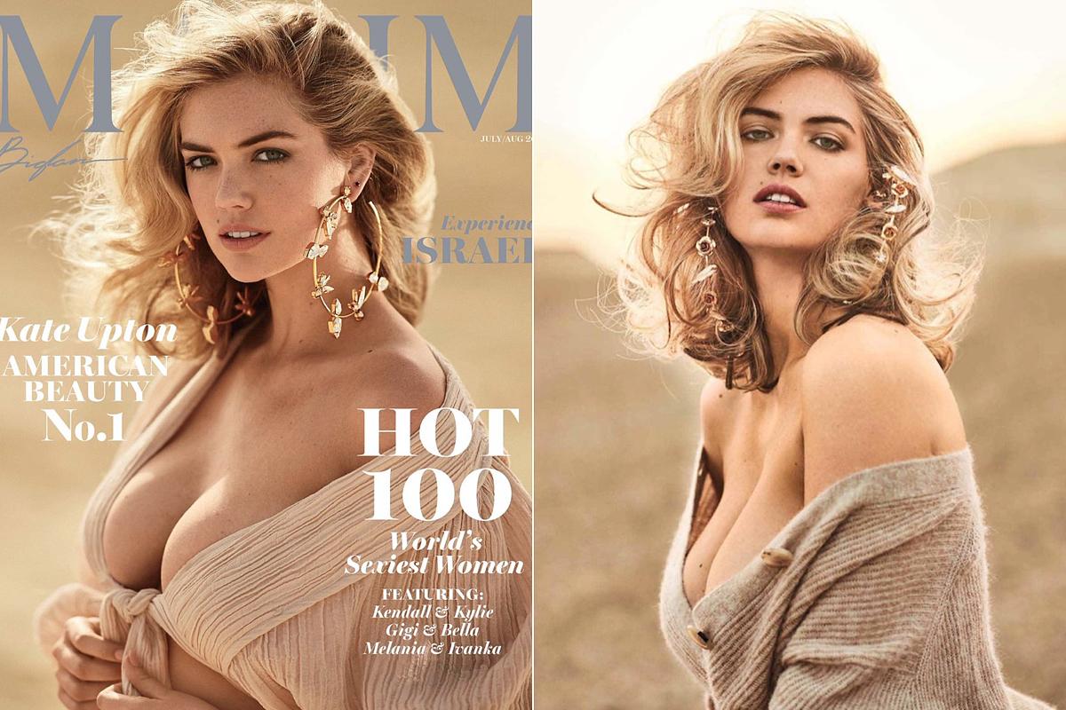 A Maxim Magazin Kate Upton természetességét helyezte előtérbe a földszínű háttérrel, a nagyon finom, visszafogott sminkkel, a szélfútta loknikkal és az itt-ott kacér, lenge öltözékekkel.