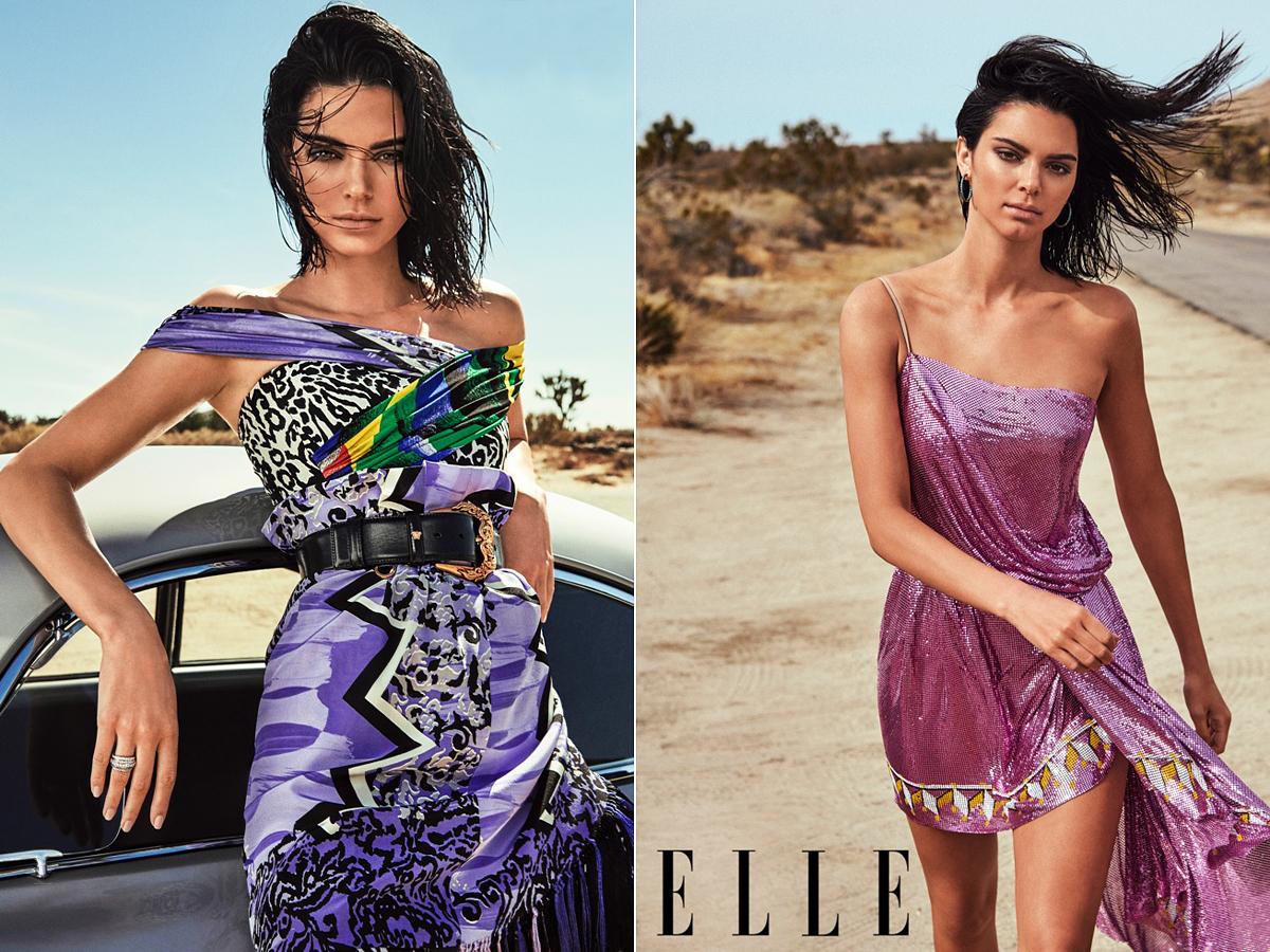 A bal oldali kép talán a legdurvább, melyen úgy néz ki a 22 éves modell, mintha virtuálisan megrajzolták volna. A színeket nagyon durván felerősítették, és picit Kendall bőre is sötétebb lett a megszokottnál.