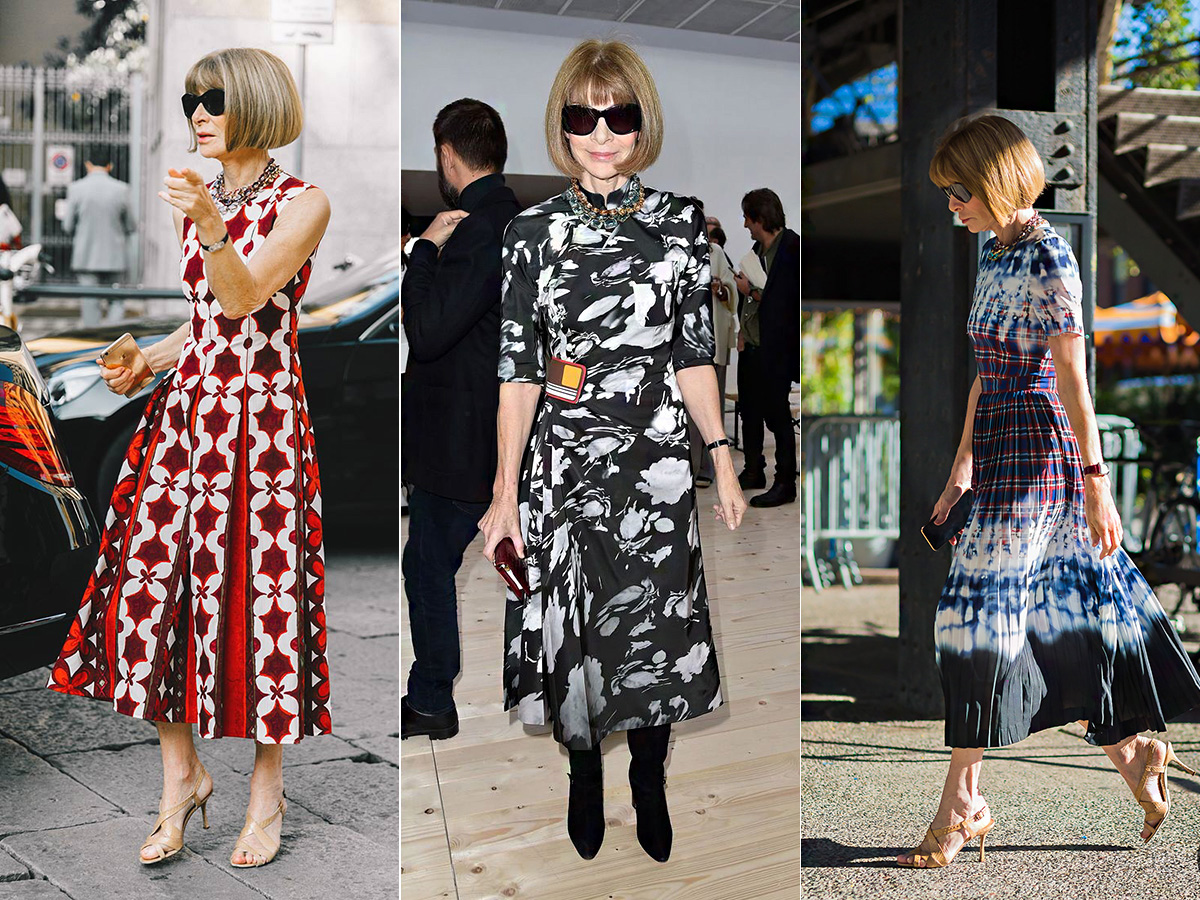 Az erős mintáktól sem fél a divat nagyasszonya.