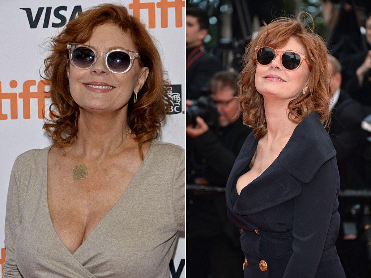 A színésznő jól tudja, hogy egy stílusos napszemüveg nagyot lendít egy nő megjelenésén.