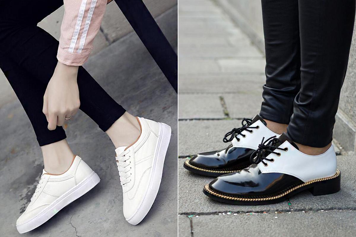 A kicsit magasított talpú cipők még a kényelmes kategóriába tartoznak, és könnyebb hozzájuk öltözni, mint a teljesen lapos változatokhoz.