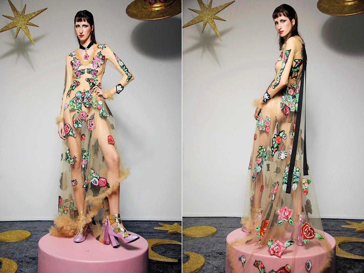 Futurisztikus estélyi ruha.