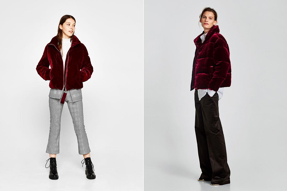 Elegáns ruhával és hétköznapi szerelésekkel is viselhető bársonydzsekik: Bershka 19 995 forint, Zara 25 995 forint.