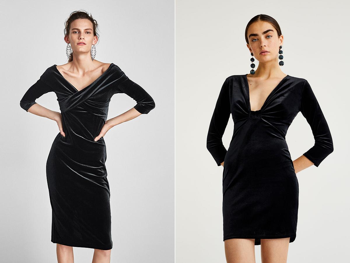 Nőiesen elegáns koktélruhák: Zara 9995 forint, Pull & Bear 7995 forint.