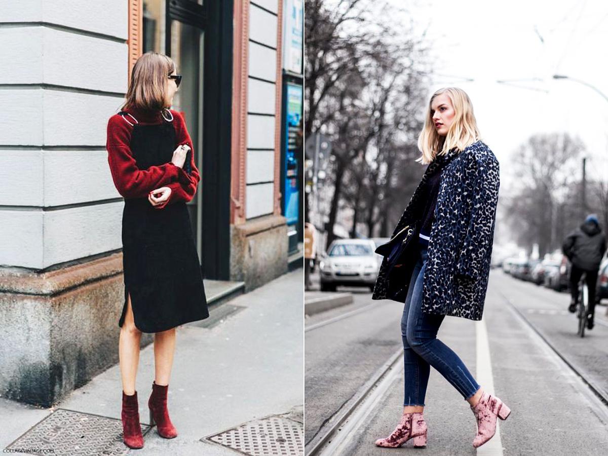 Lehet egyedüli, üde színfolt az öltözékben, vagy valamelyik ruhadarabodhoz igazíthatod a színét. Nagyon jópofa színritmusokat lehet kialakítani a burgundi, sötétkék, smaragdzöld, ibolyaszínű és rózsaszín bársonycsizmákkal.