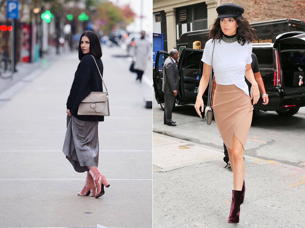 Akár lenge, akár szűk fazonról van szó, ha midi szoknyával kombinálod a bársony anyagú csizmát, extra nőies öltözéket kapsz.