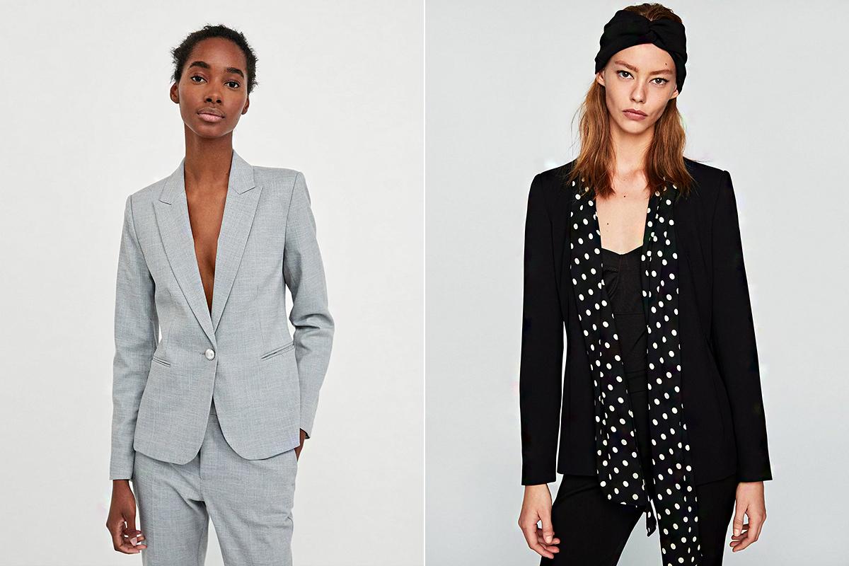A Zara választékában két csodás blézerre bukkantunk mérsékelt áron: a gyöngygombos kreáció 9995 forintba, a sálgalléros verzió 8995 forintba kerül.