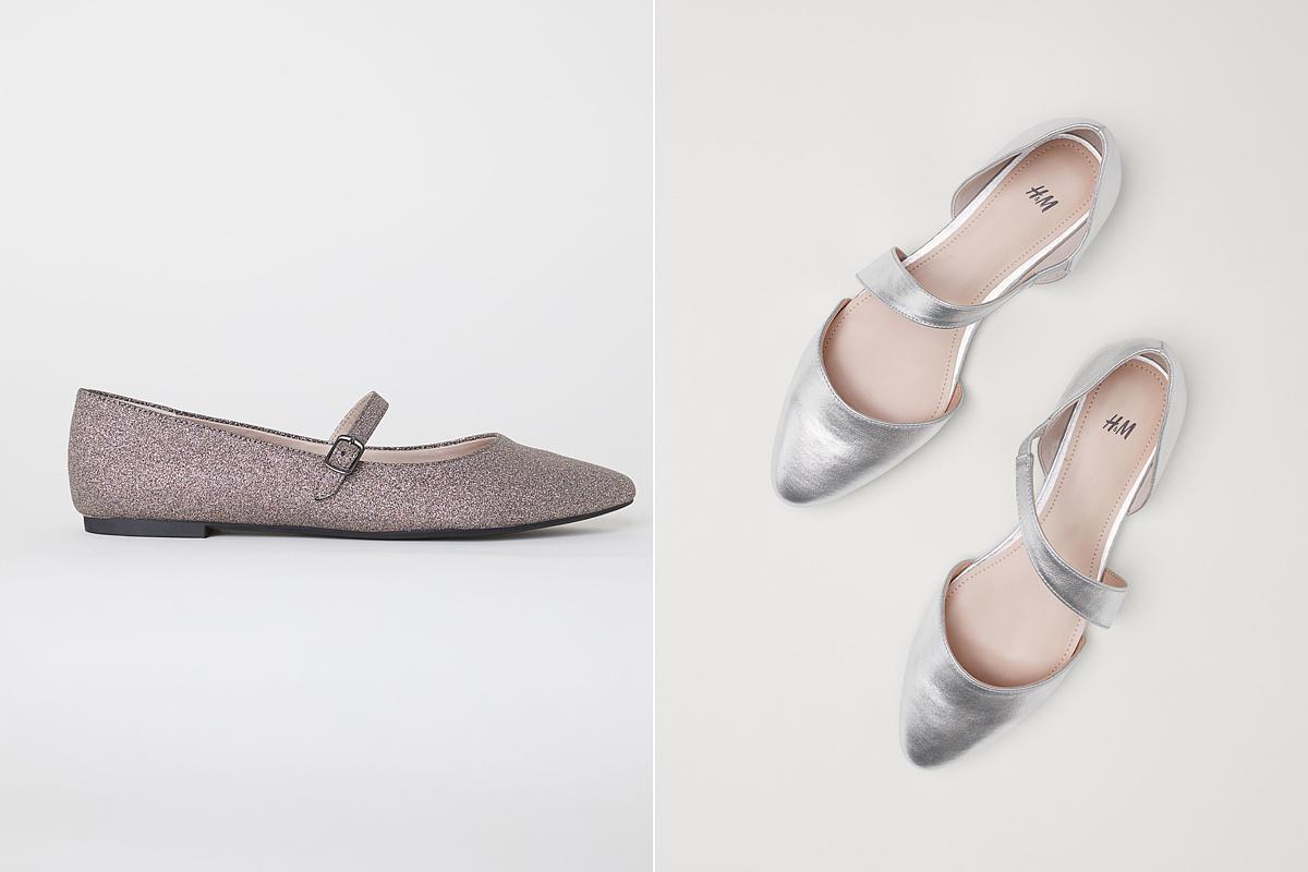 Tündéri, csillámos és fényes balerinatopánokra bukkanhatsz a H&M kínálatában: az előbbi 3490 forintért, az utóbbi 7990 forintért lehet a tiéd.