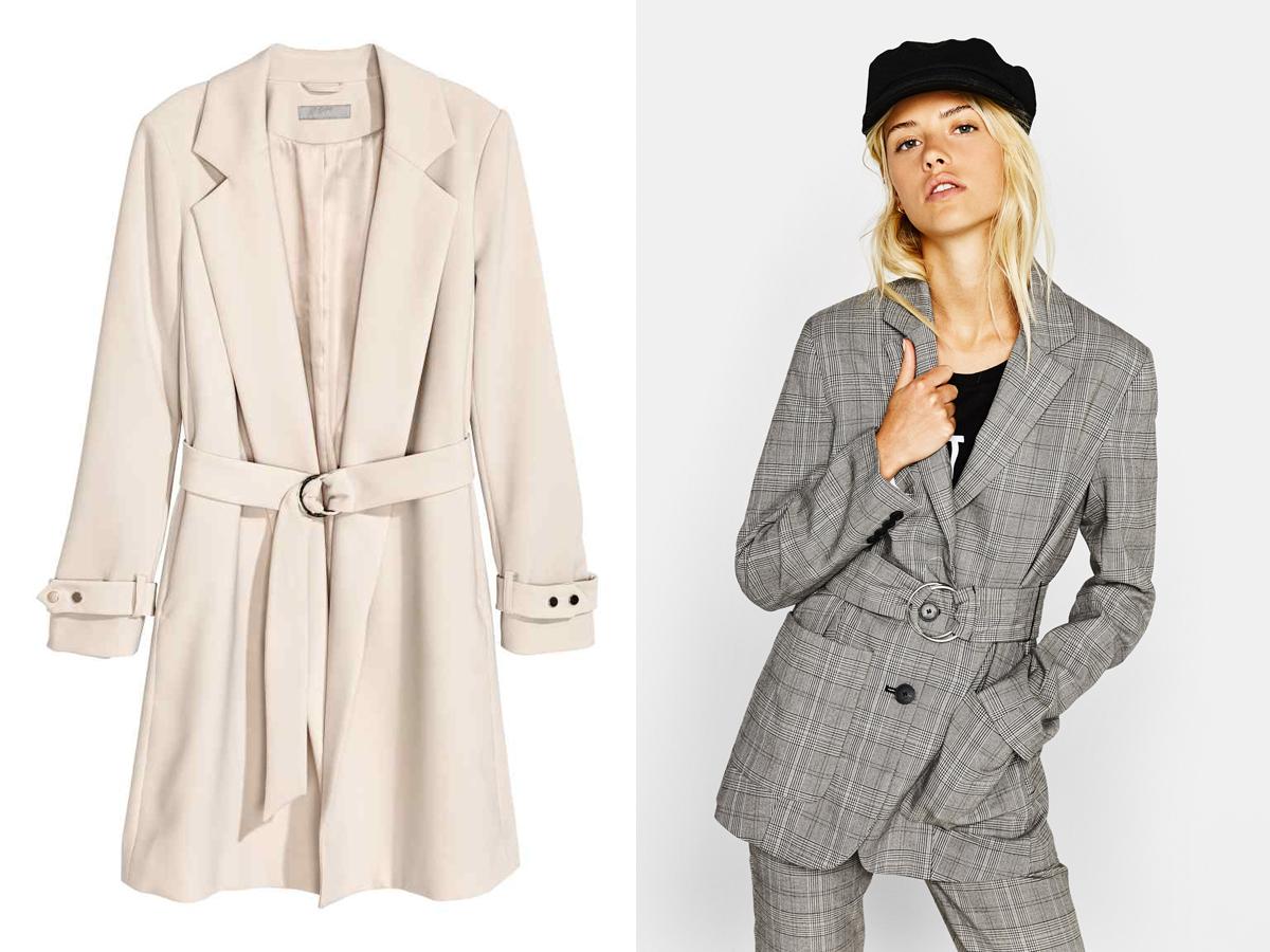 Amikor nem olyan hűvösek az őszi reggelek, és csak úgy felkapnál valamit, a blézerszabású kabátkák jöhetnek szóba. Szupernőiesek! H&M 14 990 forint, Bershka 8995 forint.