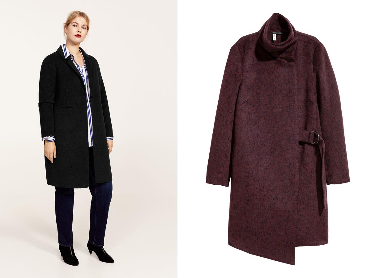 A lezser eleganciát szolgáló nőies, egyszerű kabátfazonok között a burgundi, a fekete, a szürke és a rózsaszín verziók a legnépszerűbbek. Mango plus size 35 995 forint, H&M 14 990 forint.