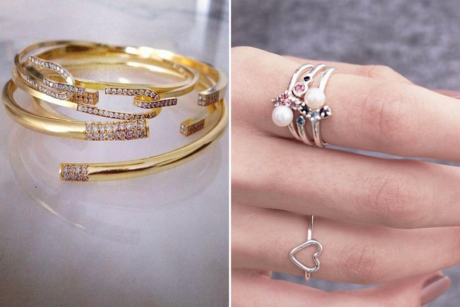 A rétegezett hatású gyűrűk az idei nyár kedvencei. Ha nincs ilyened, több vékonyka gyűrűt is egymás tetejére húzhatsz.
