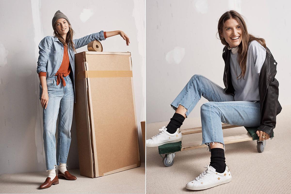 A zoknit nem fogjuk takargatni idén tavasszal. Az aszimmetrikus szárú, vintage stílusú farmerek továbbra is divatban maradnak.