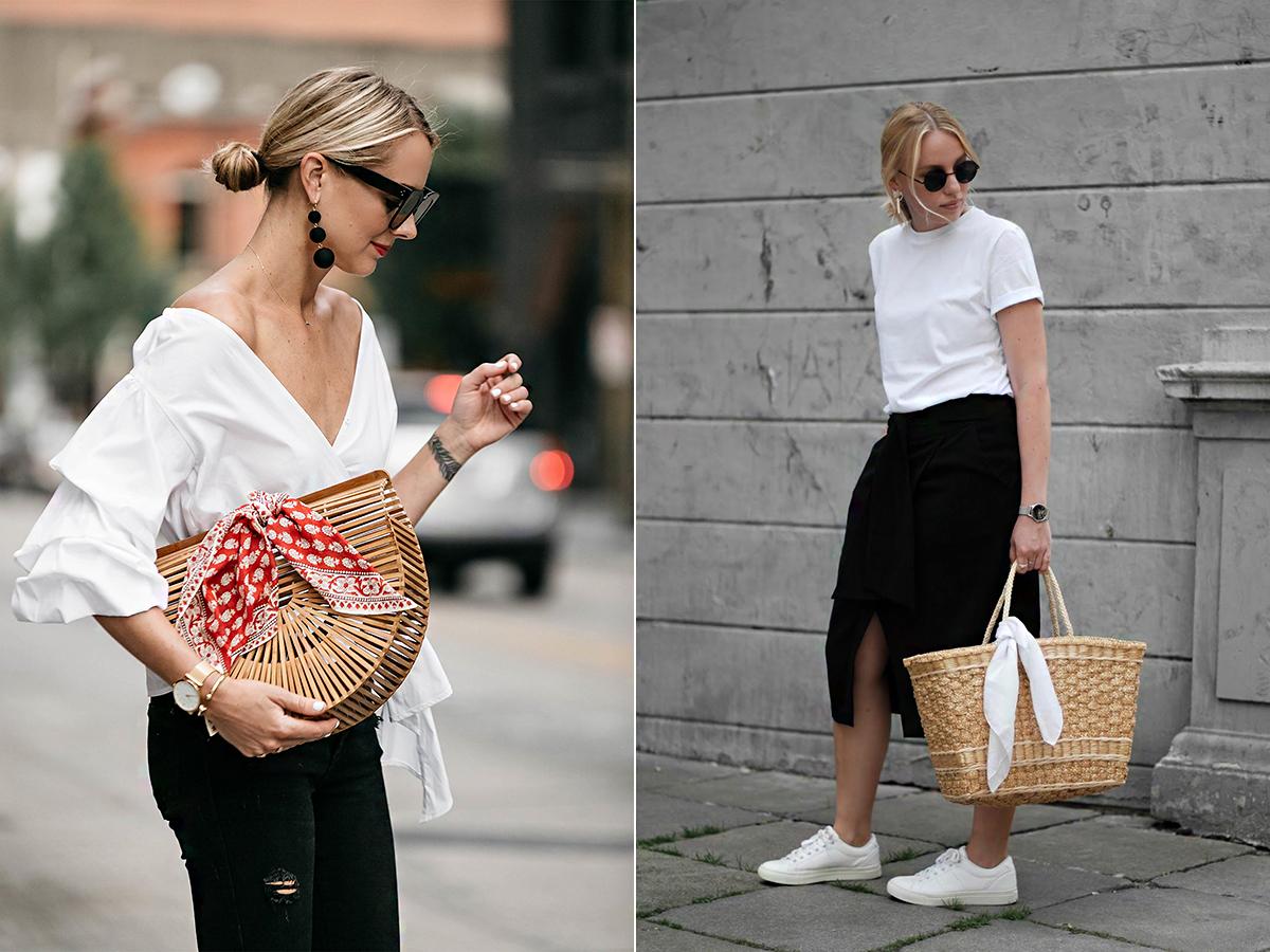 Köss rá a táskád fülére egy kendőt, mely harmonizál az öltözéked színeivel.