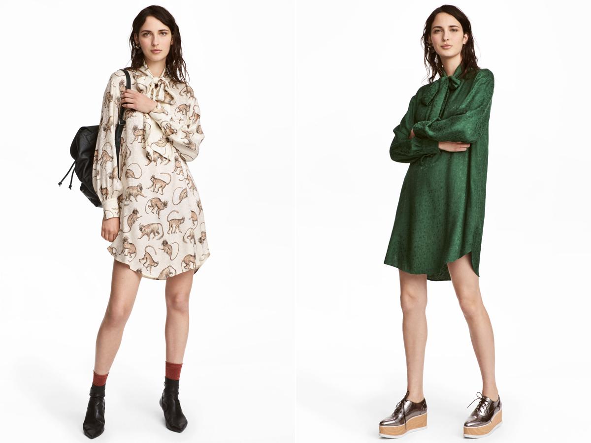 A színes és mintás blúzruhák könnyedek, és nagyon nőiesek: mindkét darab 8990 forintba kerül a H&M üzleteiben.