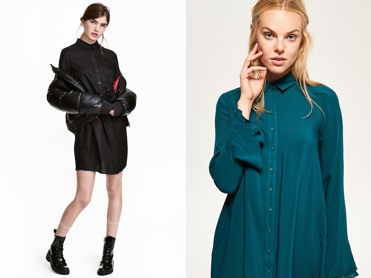 Az ingruha színes vagy fekete foltja lehet az öltözékednek: H&M 5990 forint, Reserved 7995 forint.