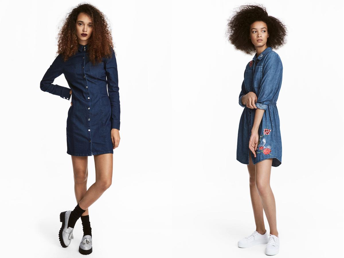 Csinos farmerruhák, alakra szabva: mindkettő 9990 forintba kerül a H&M üzleteiben.