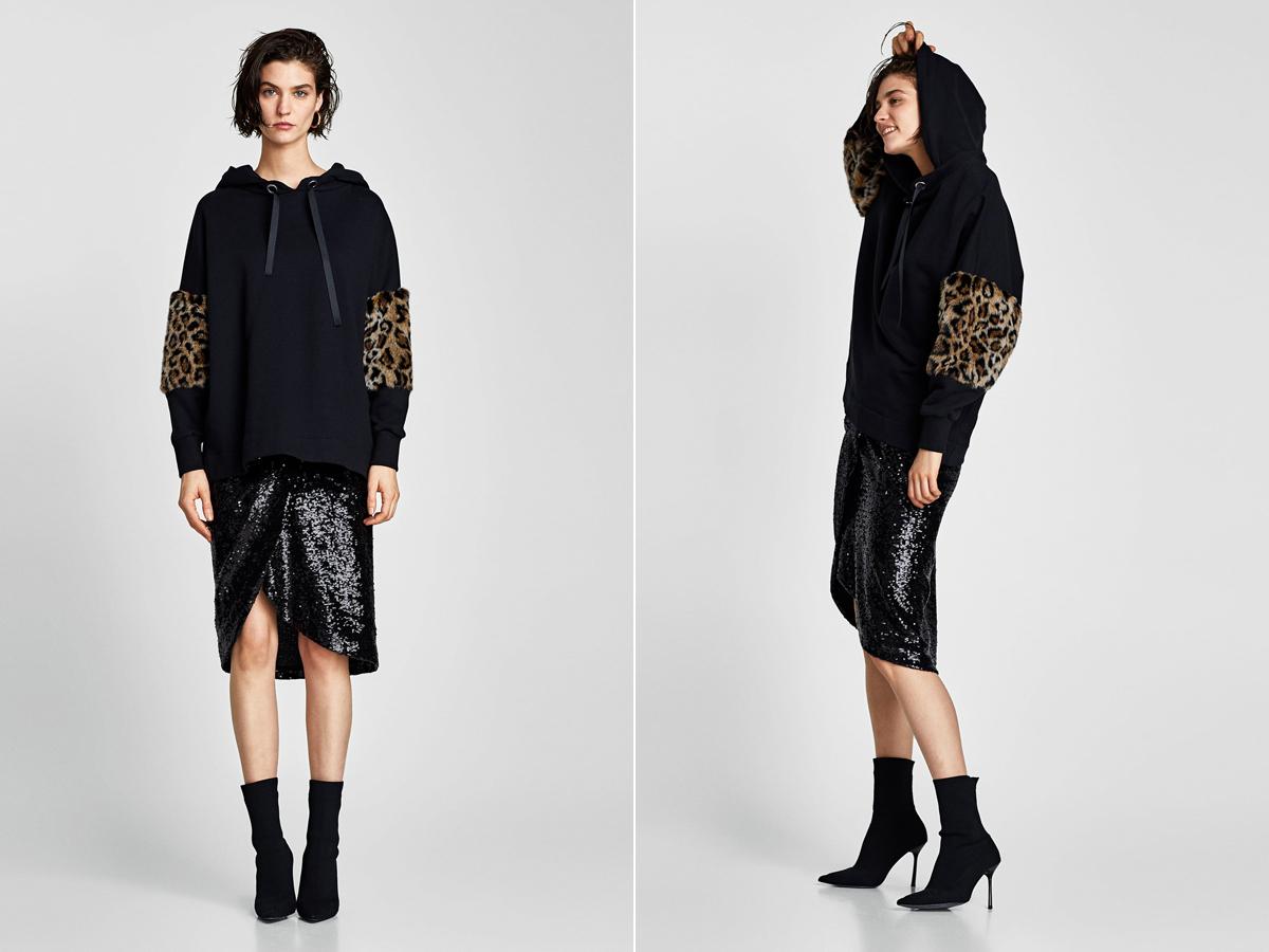 Egy kis ocelotminta, és máris stílusosabb, vagányabb a kapucnis felső. A Zara pulóverét 8995 forintért vásárolhatod meg.