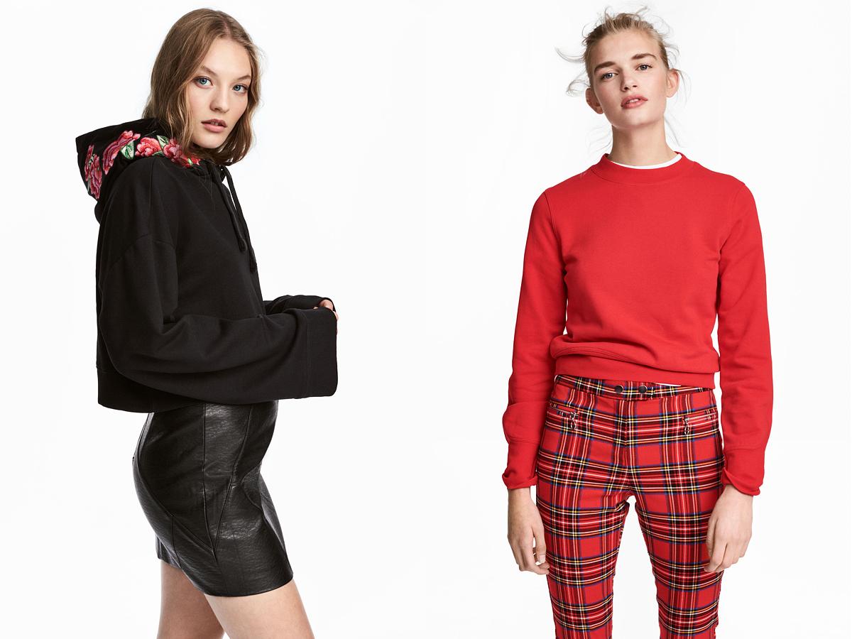 A H&M hímzett, kapucnis darabja 6990 forintba kerül, a piros melegítőfelsője pedig 3990 forintért lehet a tiéd.