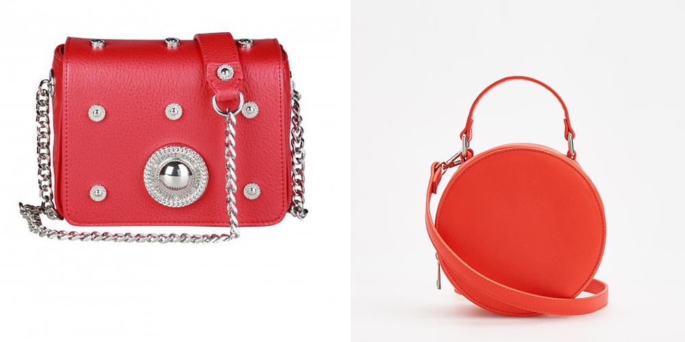 A vörös és narancsszínű kiegészítők jól passzolnak a sötétebb partiruhákhoz, és üde színfoltjai lehetnek a Valentin-napi megjelenésednek. A Versace Jeans piros táskáját a <a href='https://www.feminashop.hu/' target='_blank'>Femina webshopjából</a> rendelheted meg akciósan, 62 400 forint helyett 39 000 forintért. A Reserved stílusos, körfazonú táskája 5995 forintba kerül.