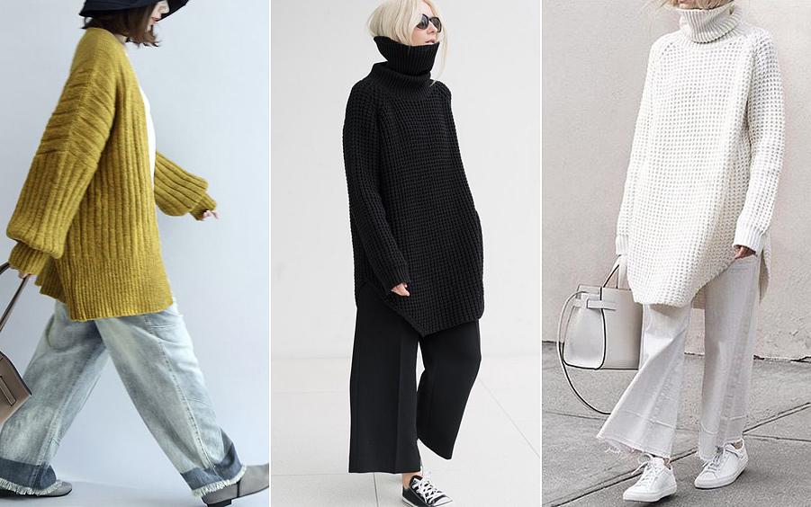 Sajnos a bő szárú, bokavillantó nadrágfajták, valamint a túlméretezett, kötött pulóverek egyszerre kerültek be idén a divatba, így sokan elhiszik, nem baj, ha együtt viselik őket. Pedig rettentően összenyomják és szélesítik az alakot.